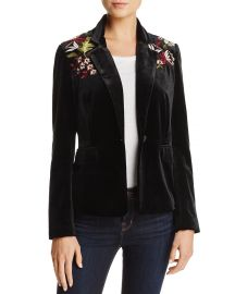 Lucy Paris Embroidered Velvet Blazer at Bloomingdales