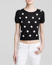 Lucy Paris Sweater - Flower Applique at Bloomingdales