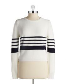 Lucy Paris Textured Stripe Sweater at Lord & Taylor