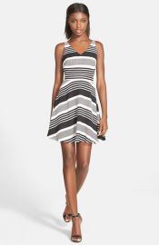Lucy Paris and39Seeing Stripesand39 Fit andamp Flare Minidress at Nordstrom