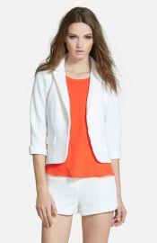 Lucy Paris and39Sunflowerand39 Crop Blazer in white at Nordstrom