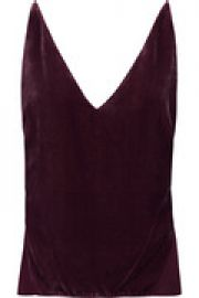 Lucy velvet and organza camisole at The Outnet