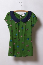 Lucys green Anthropologie top at Anthropologie
