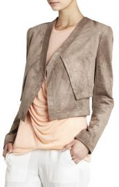 Luke Faux Suede Jacket at Bcbg