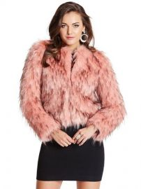 Lula Fur Jacket at Guess
