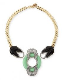 Lulu Frost Moderne Enamel and Crystal Bib Necklace at Neiman Marcus