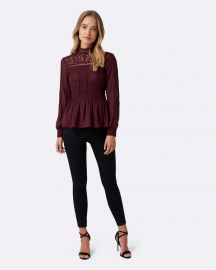Luna Lace Bodice Trim Detail Blouse by Forever New at The Iconic