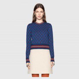 Lurex GG jacquard sweater at Gucci