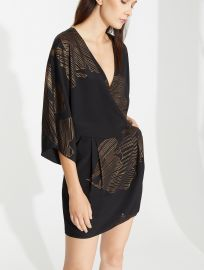 Lurex Printed Kimono Dress by Halston Heritage at Halston Heritage