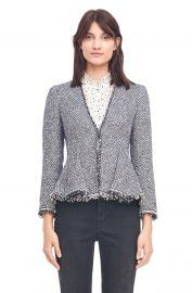 Lurex Tweed Peplum Jacket at Orchid Mile