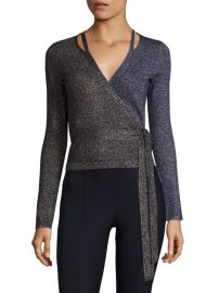 Lurex Wrap Cardigan by Diane von Furstenberg at Saks Off 5th