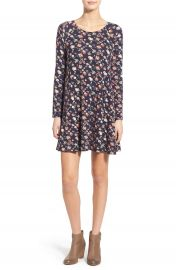 Lush  Lauren  Long Sleeve Shift Dress at Nordstrom