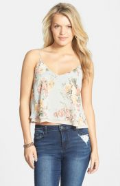 Lush Double Ruffle Swing Camisole at Nordstrom