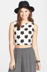 Lush Print Woven Crop Tank at Nordstrom