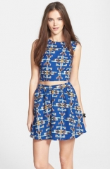 Lush Skater Skirt and Crop Top at Nordstrom