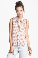 Lush Sleeveless Western Top at Nordstrom