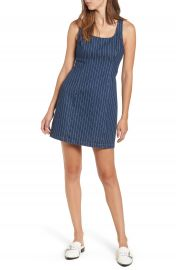 Lush Stripe Denim Dress at Nordstrom