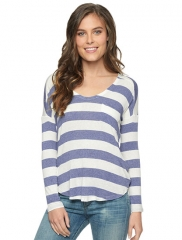 Lux Drapy Stripe Pocket Tee at Splendid