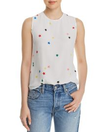 Lyle Star-Print Silk Top at Bloomingdales