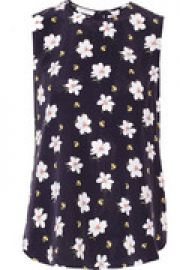 Lyle floral-print washed-silk tank at The Outnet