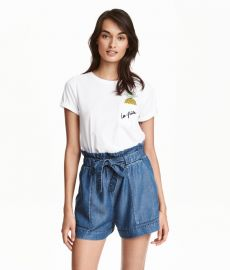 Lyocell Denim Shorts at H&M