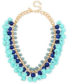 M  Haskell for INC International Concepts Gold-Tone Stone   Pom-Pom Statement Necklace  Created for Macy s at Macys