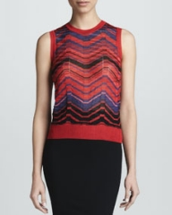 M Missoni Bias Plaid Knit Tank at Neiman Marcus
