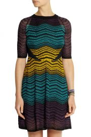M Missoni Colorblocked Ripple Dress at The Outnet