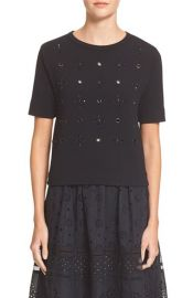 MARC BY MARC JACOBS Anja Embellished Merino Wool Blend Sweater at Nordstrom