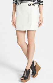 MARC BY MARC JACOBS and39Evaand39 Hardware Detail Stretch Miniskirt at Nordstrom