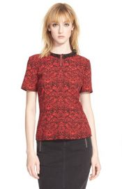 MARC BY MARC JACOBS and39Strawberry Thiefand39 Crepe Peplum Top at Nordstrom