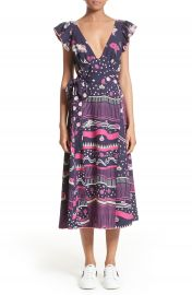 MARC JACOBS Glories Crepe Back Satin Midi Wrap Dress at Nordstrom