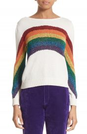 MARC JACOBS Rainbow Cotton Blend Sweater at Nordstrom