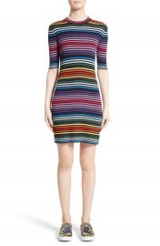 MARC JACOBS Stripe Cotton T-shirt Dress at Nordstrom