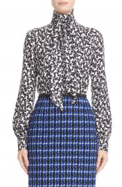 MARC JACOBS Tie Neck Poodle Print Blouse at Nordstrom