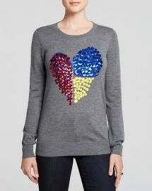 MARKUS LUPFER Sweater - Natalie Sequin Heart at Bloomingdales