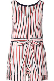MDS Stripes   Amanda striped cotton-jersey playsuit at Net A Porter