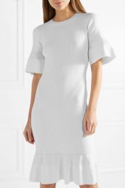 MICHAEL Michael Kors   Ribbed-knit dress at Net A Porter