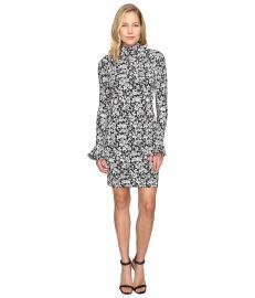 MICHAEL Michael Kors Floral Bell Sleeve Long Sleeve Dress at 6pm