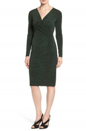 MICHAEL Michael Kors  Panther  Print Faux Wrap Jersey Dress at Nordstrom