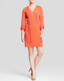 MICHAEL Michael Kors Chain Lace-Up Dress at Bloomingdales