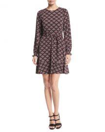 MICHAEL Michael Kors Chandelier Smocked-Cuff Dress at Neiman Marcus