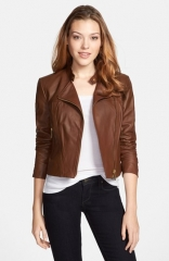 MICHAEL Michael Kors Leather Moto Jacket at Nordstrom