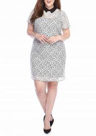 MICHAEL Michael Kors Plus Size Lace T-Shirt Dress at Belk