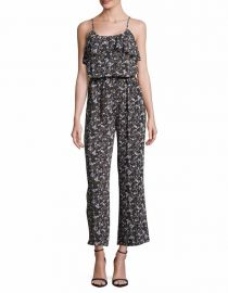 MICHAEL Michael Kors Ruffle Accented Jumpsuit at Lord & Taylor