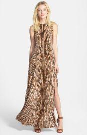 MICHAEL Michael Kors Studded Mix Print Maxi Dress at Nordstrom