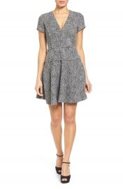 MICHAEL Michael Kors Tweed Fit   Flare Dress at Nordstrom