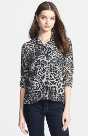 MICHAEL Michael Kors and39Fremontand39 Leopard Print Shirt at Nordstrom