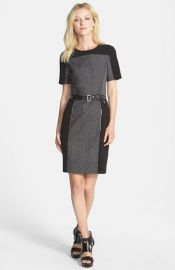 MICHAEL Michael Kors and39Wickhamand39 Belted Colorblock Sheath Dress at Nordstrom