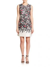MILLY - Coco Printed Dress at Saks Fifth Avenue
